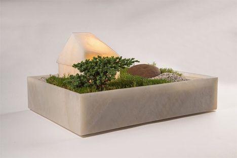 Mokki planter lamp by Caterina Moretti