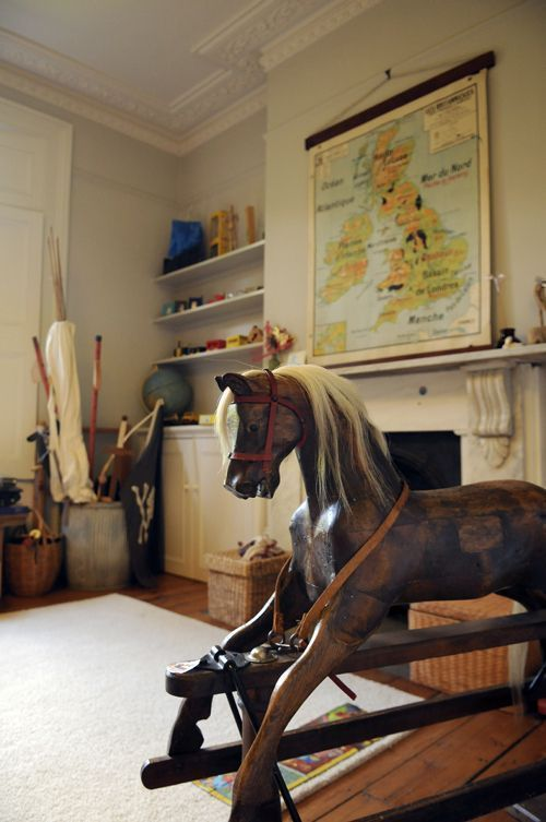antique and interesting looking toys act as style of the house
