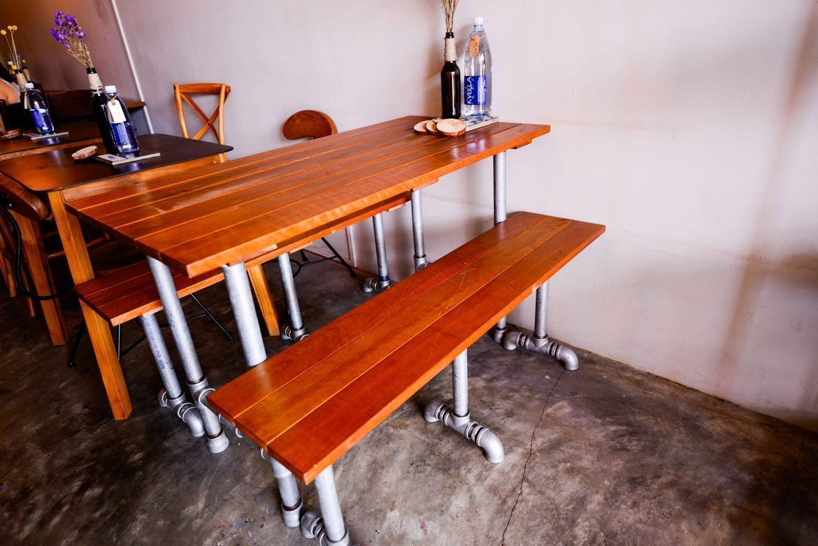 unique upcycled furnishings at afterglow by anglow deli and bar