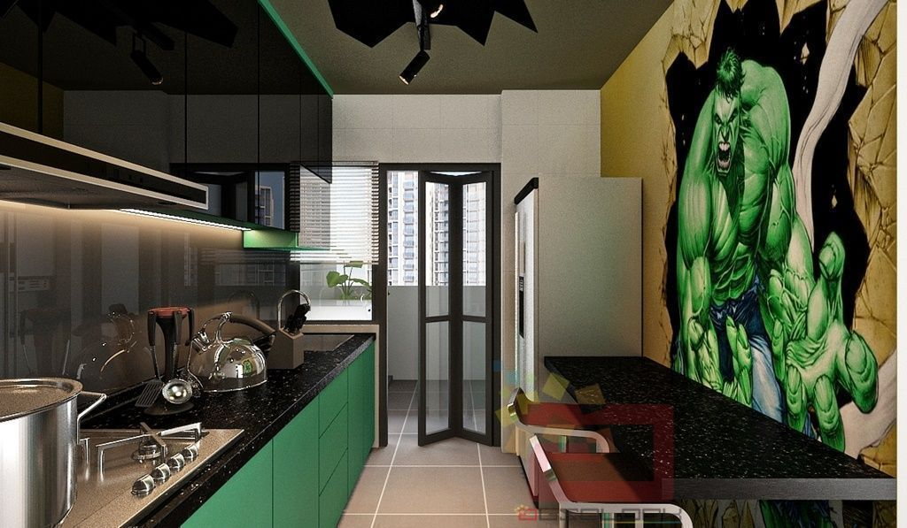 9 Colourful Kitchens in Singaporean Homes
