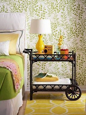 How To Creatively Use Your Bar Cart In Other Parts Of The Home