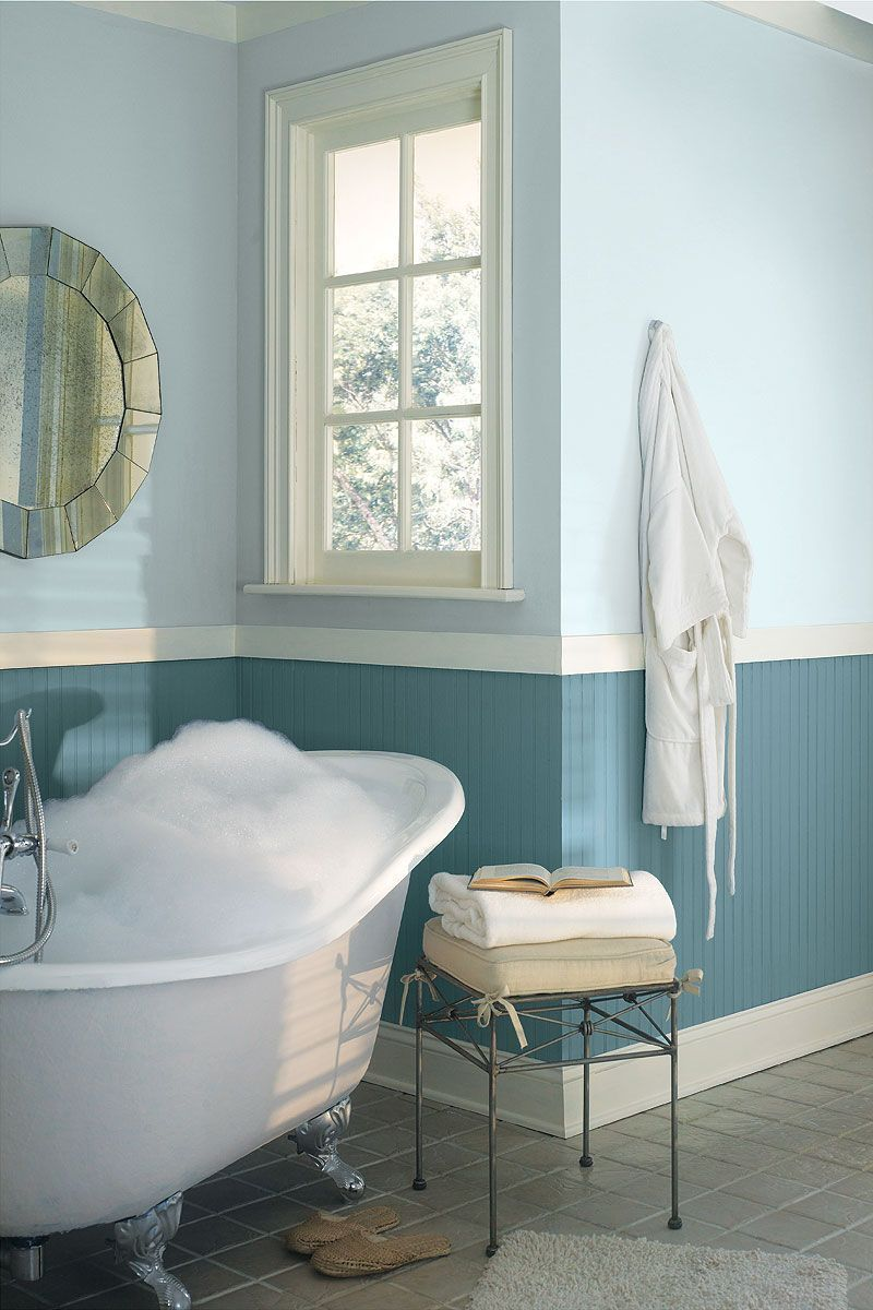 Bathroom paint ideas blue - Textured Bathroom Tile