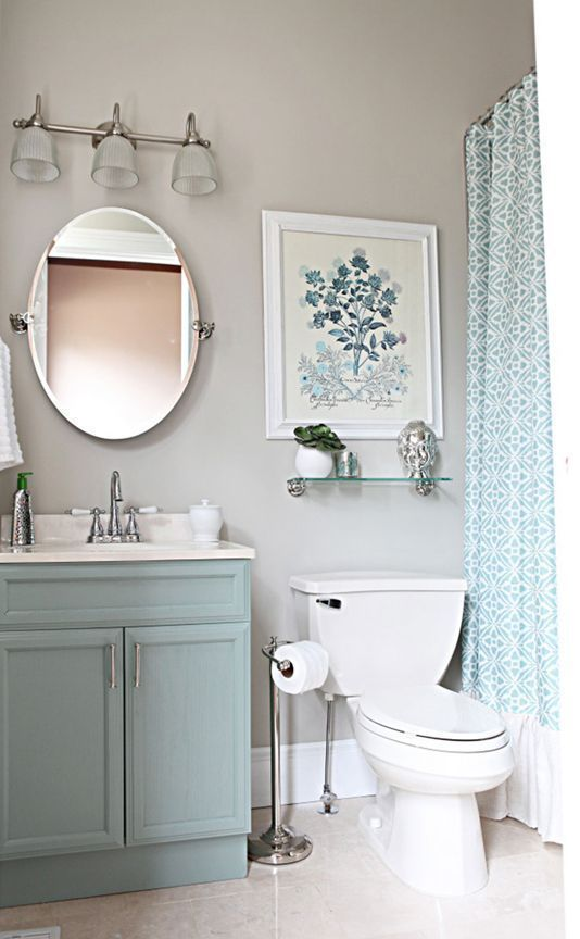 Bathroom ideas from simple makeovers to major overhaul for Blue and silver bathroom ideas