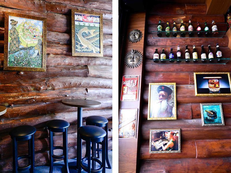 alcohol collection at Buyan Russian Restaurant and Bar