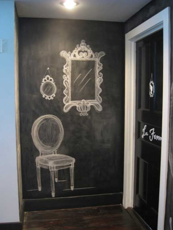 Beautiful Chalkboard Wall Executions At Home