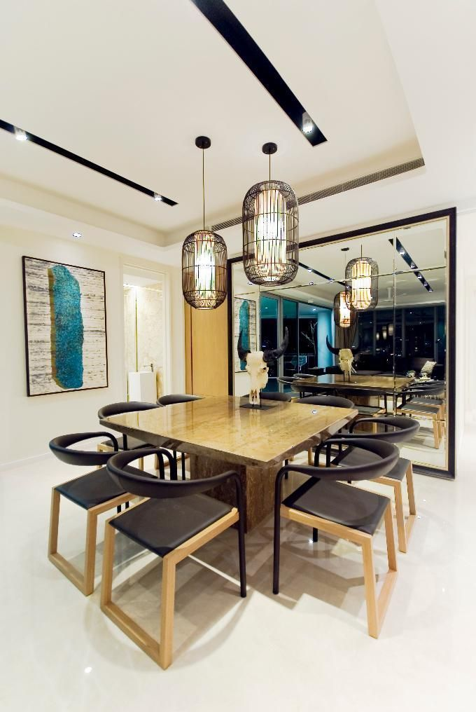 luxurious marble dining table for a contemporary modern dining space