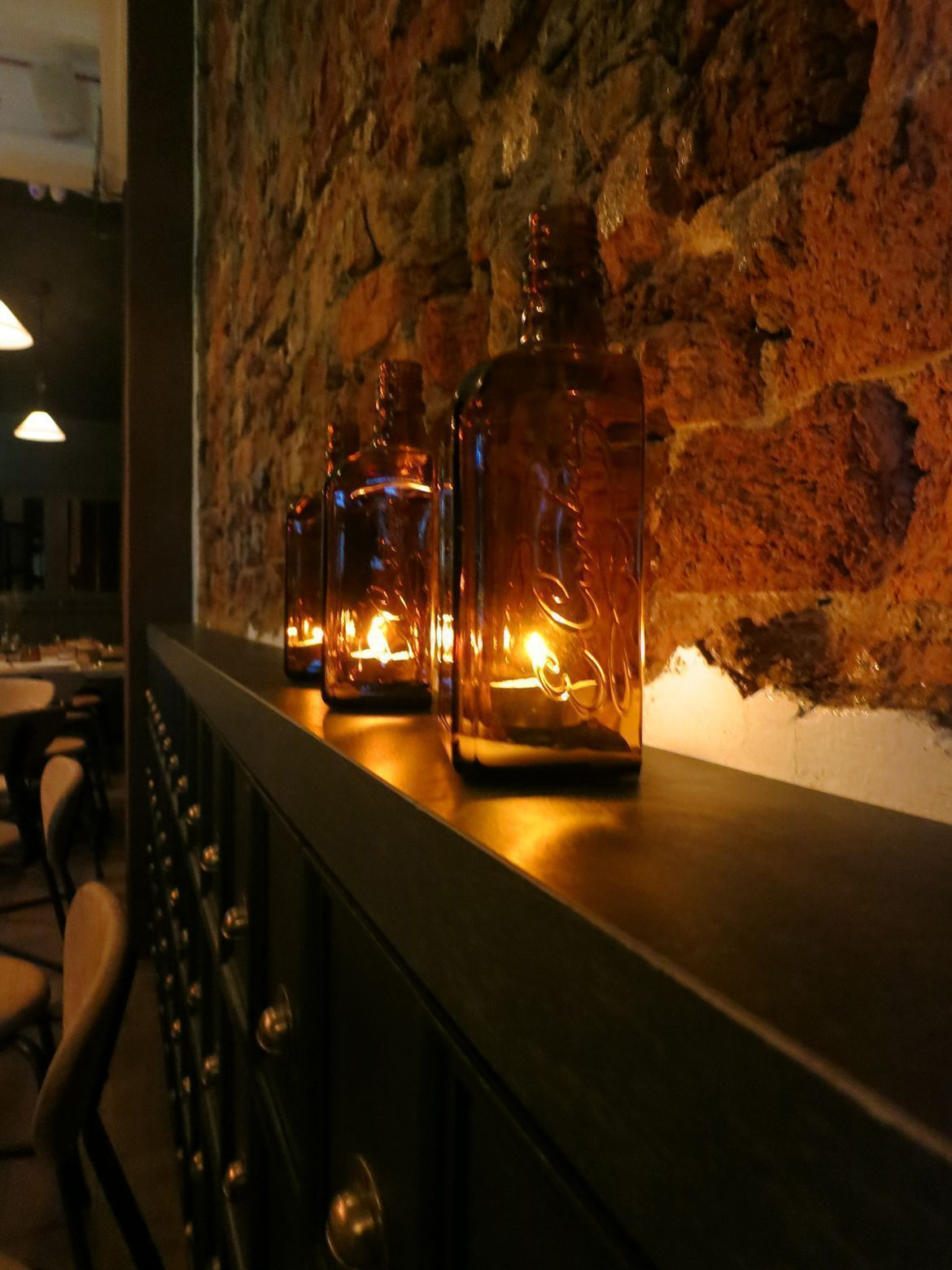 cosy and luxurious interior of cicheti italian restaurant