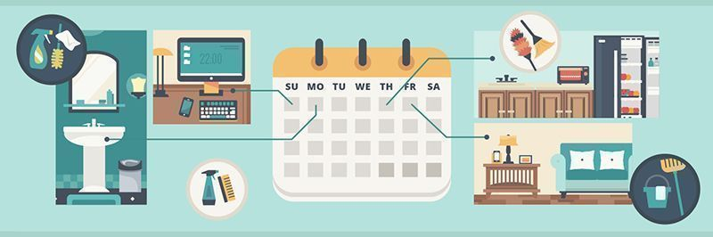 Infographic: Hassle-Free Weekly Cleaning Schedule