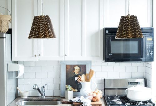 DIY Project: Feather-Covered Lampshade