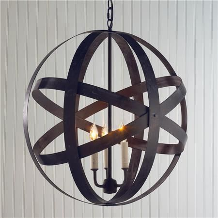 metal steel orb modern hanging light