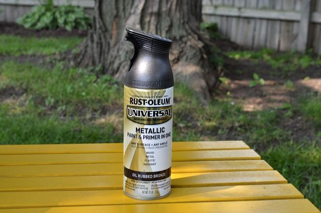 bronze spray paint for rusty metal