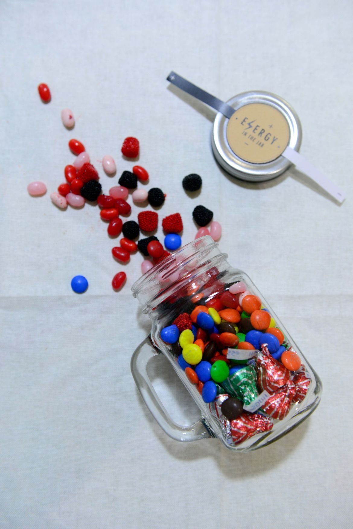 candy gift jars DIY