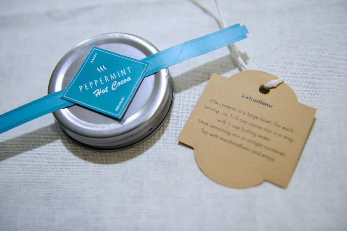 design and print labels for gift jars