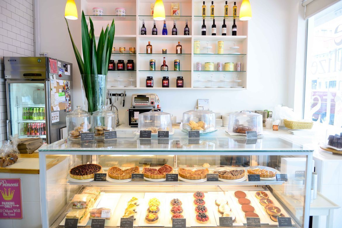 pastry bar at drips bakery cafe