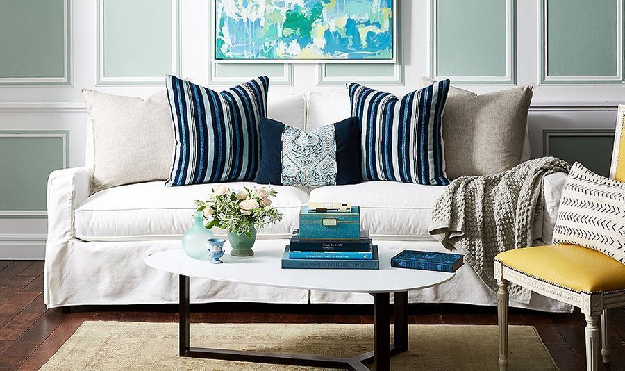 stylish ways to work with a neutral sofa