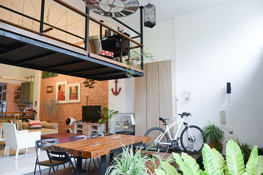 House Tour: Jerome and Sarah's Charming Home with Industrial-Style Mezzanine