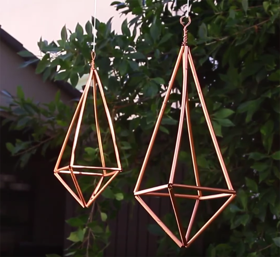 Video: How to Create Faux Bronze Hanging Prisms
