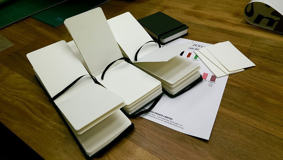 100% cotton paper for luxurious leather notebooks