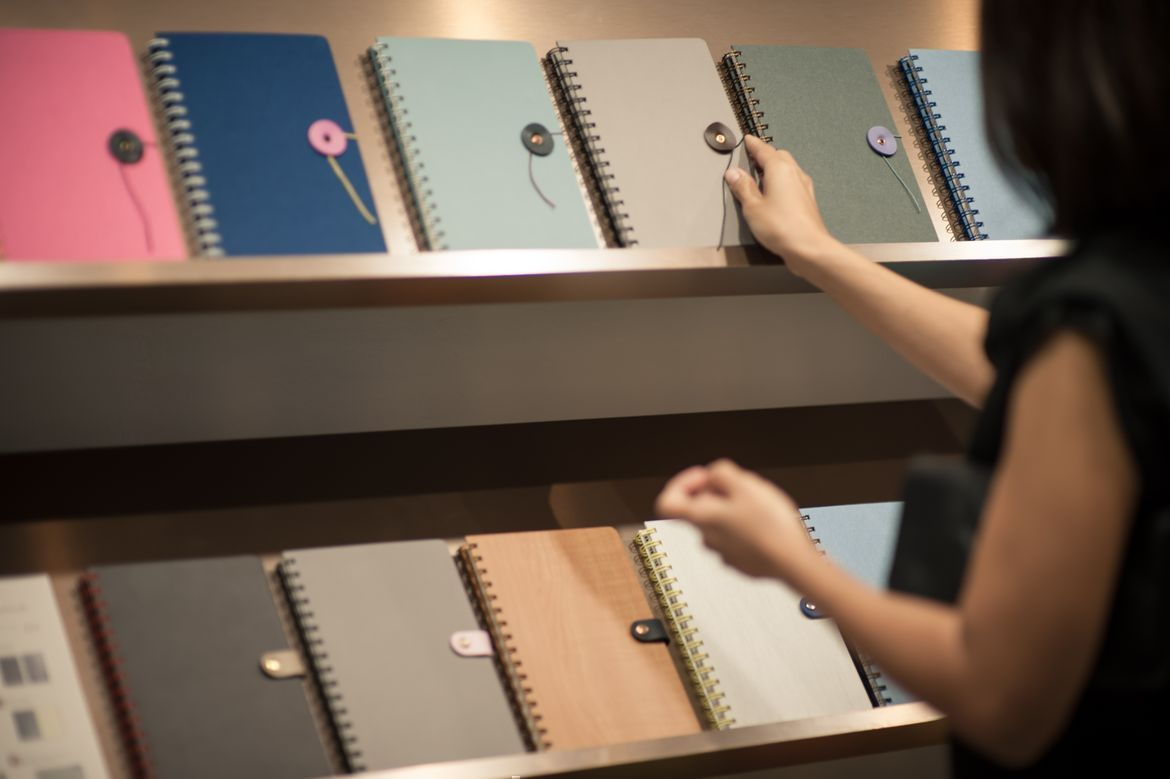 Artistic and sleek leather notebooks