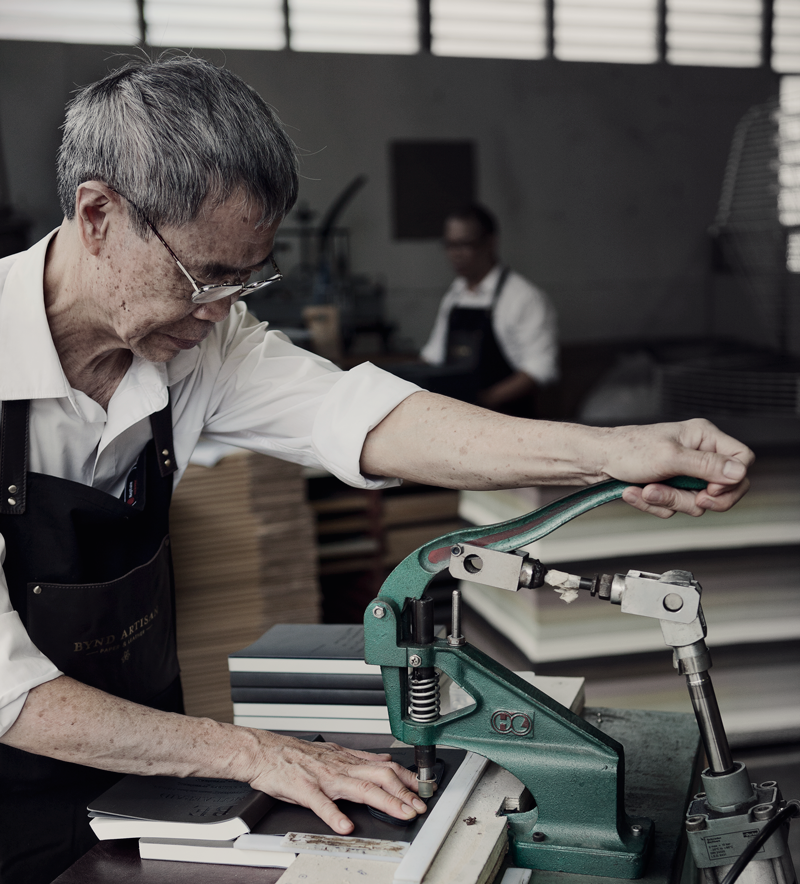 leather master craftsman in Singapore
