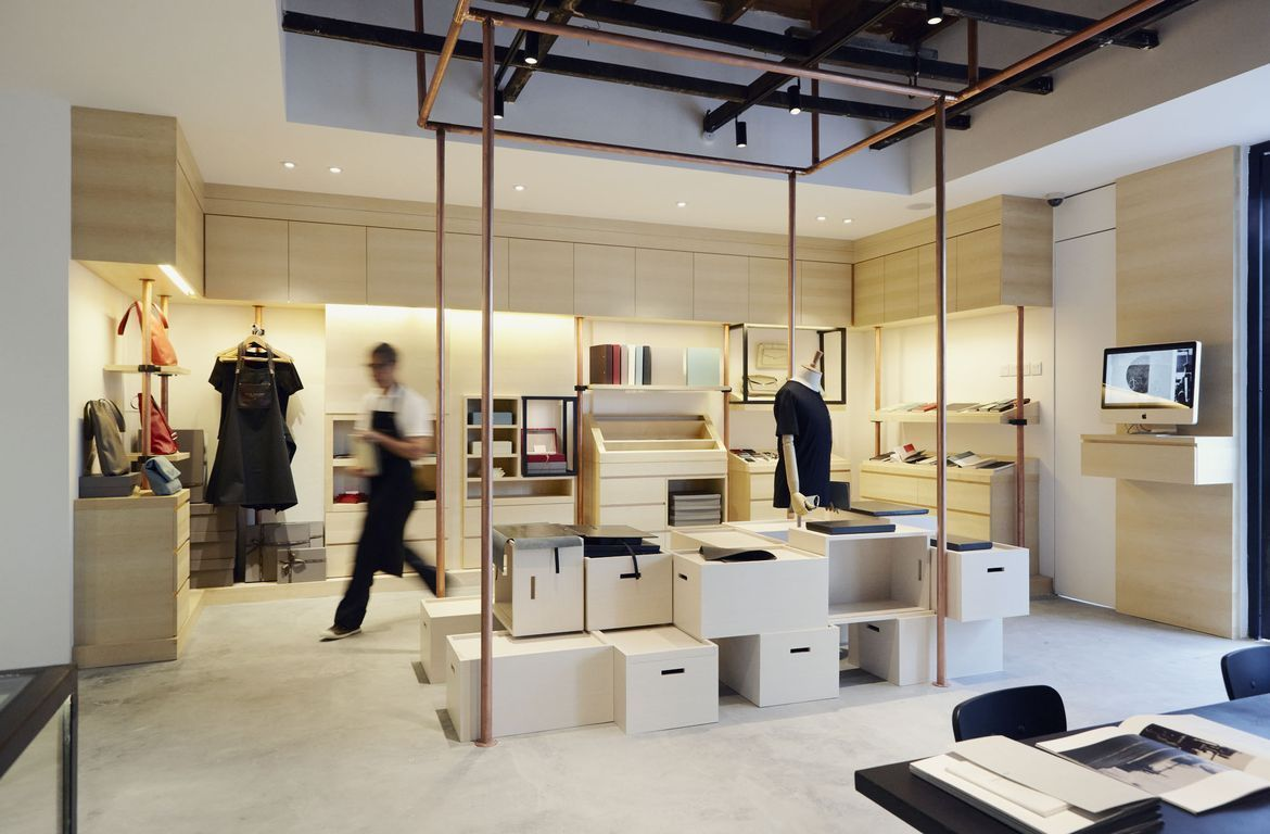 the modern interior design of Bynd Artisan retail store
