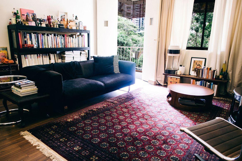 modern nostalgia living room
