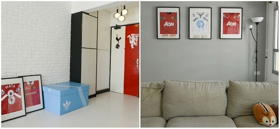 House Tour: Yuming and Michelle's Minimalist Home with Football-Themed Decors