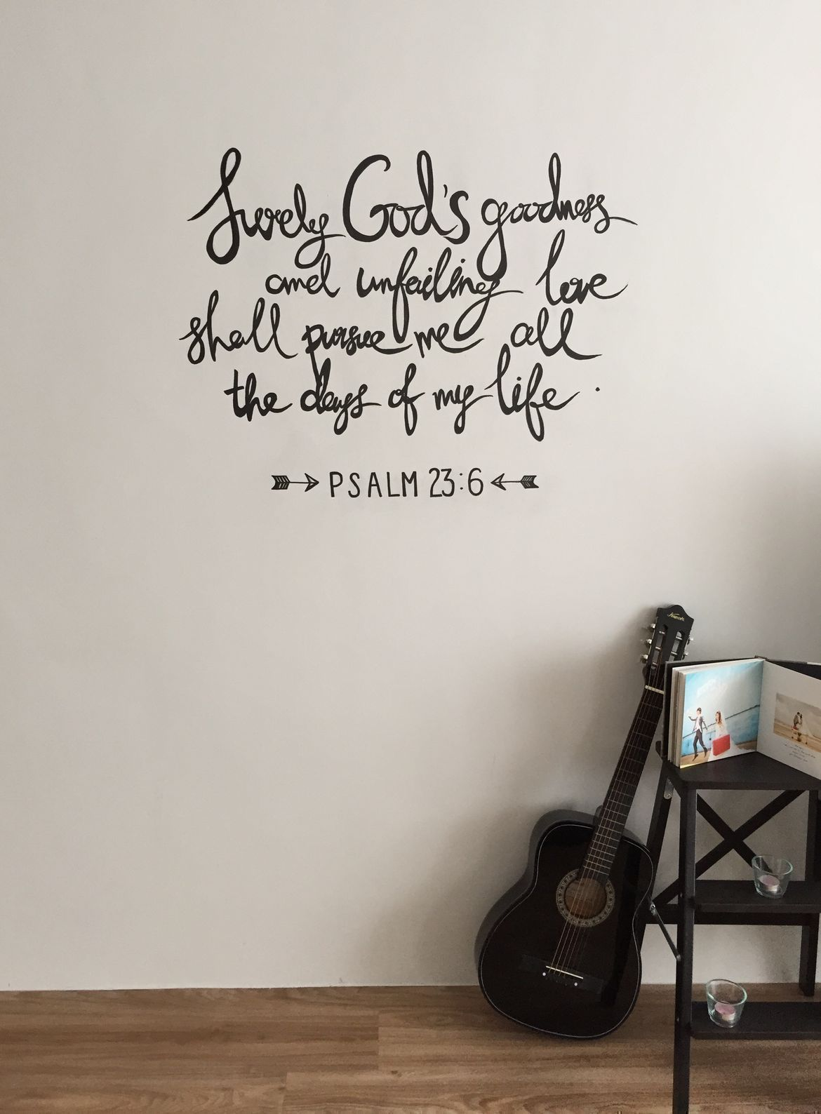 cool wall sticker provides personality to the apartment