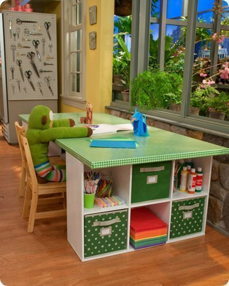 DIY handcraft table great for kids