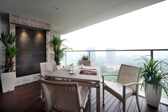 If Balcony Space Permits, Set Up A Water Feature And A Dining Set To Enjoy  U201cal Frescou201d Dining.