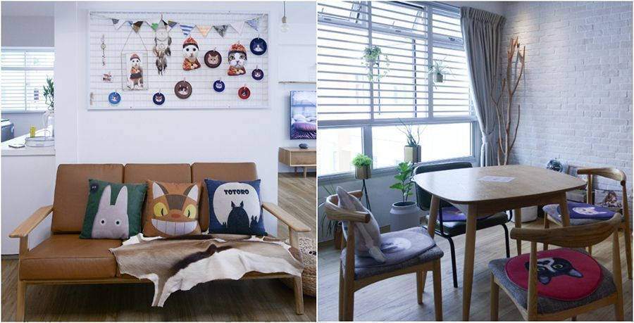 House Tour: Danny and Joyce's Scandinavian Cat Café–Themed Home