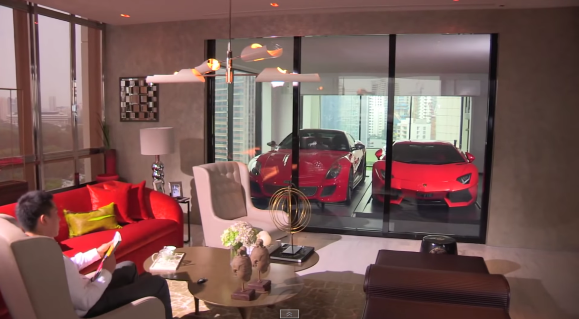 Lamborghini Aventador Parking In Living Room Hamilton Scotts in Singapore