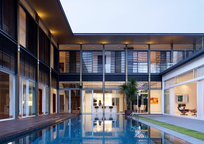 House Tour: Unobstructed View of the Pool From Almost Anywhere