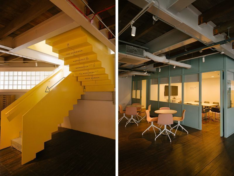 bright and unconventional office spaces at the working capitol