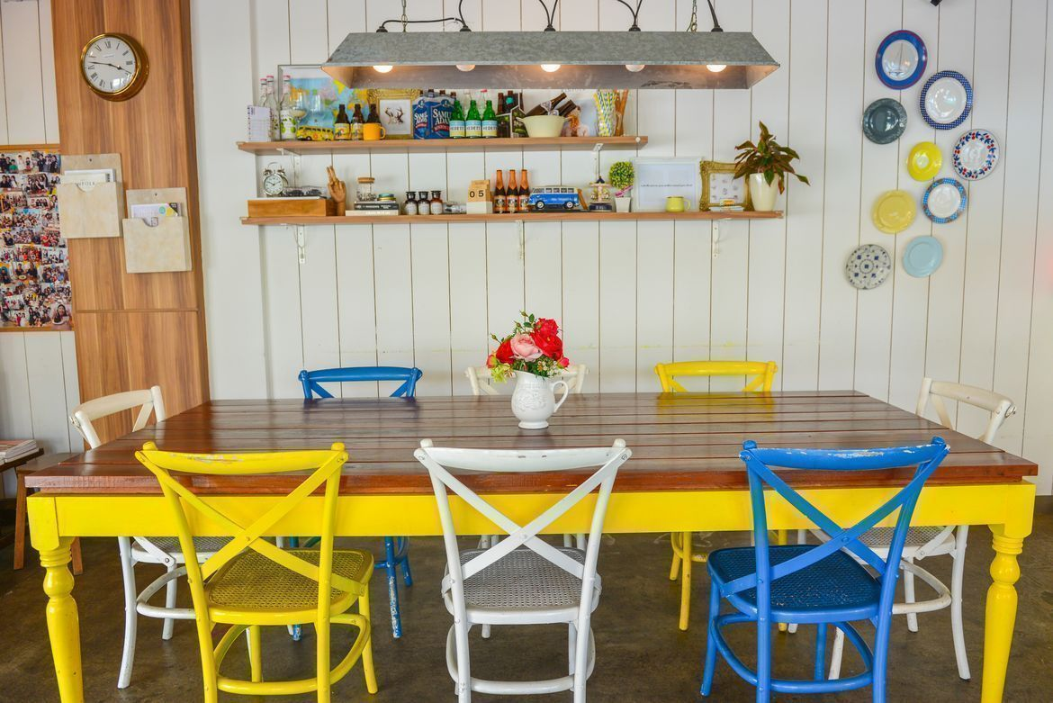 colourful and clean dining space at W39 Bistro & Bakery