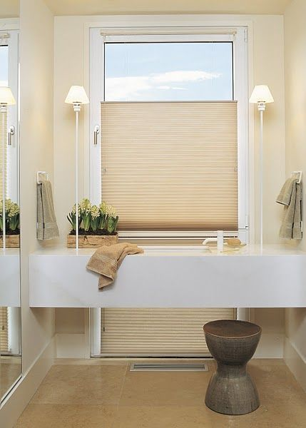 2 questions to ask when choosing window treatments for Blinds bathroom window