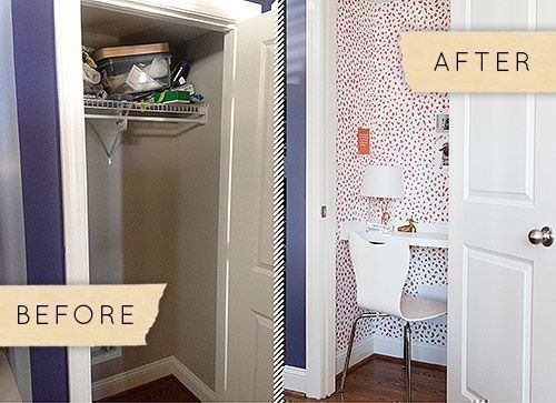 Closet-Turned-Home Office Makeover