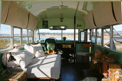 Cabin On Wheels: A School Bus Transformed Into A Vacation Home