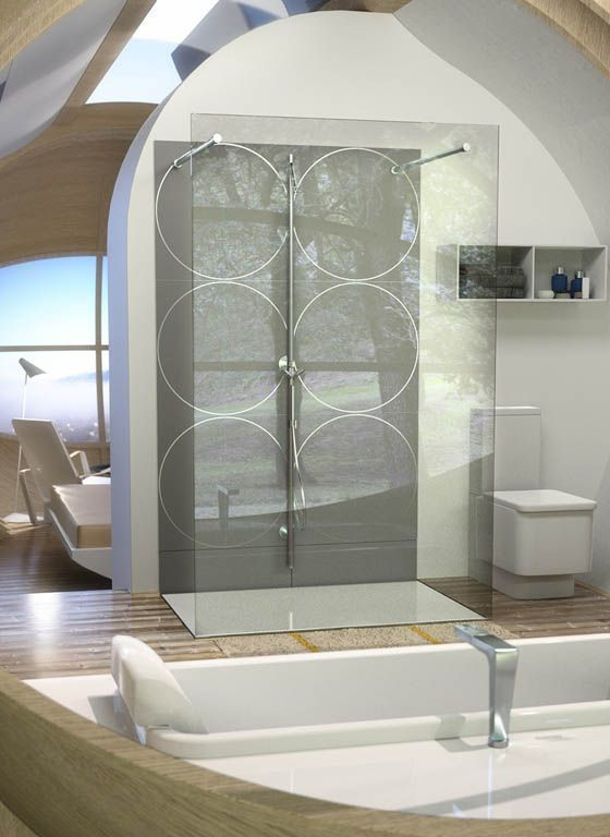 modern and sleek bathroom of the DROP XL removable hotel