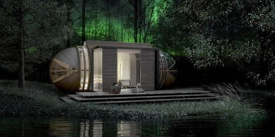 modern architecture of the DROP XL removable hotel in the world