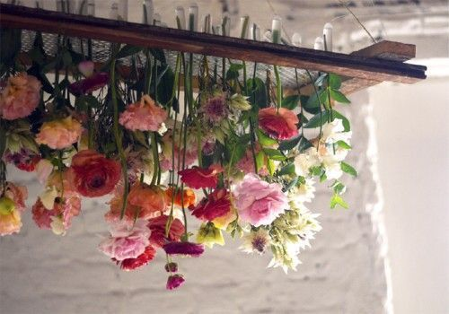 Do-It-Yourself Floral Chandelier