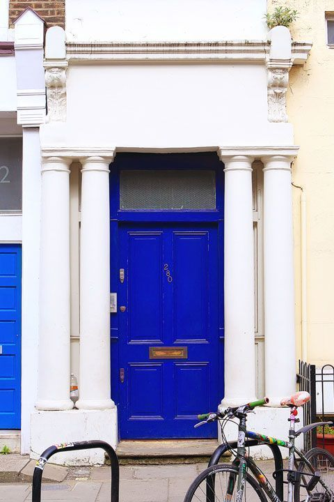 cobalt blue is a striking colour for the front door