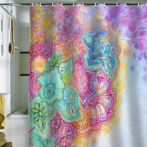 Shower curtains that let your personality shine so why not kick things up a notch and let your personality sparkle through your shower curtain a unique and vibrant one will stand out against a bathrooms urtaz Choice Image