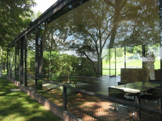 Designer glass house in the Connecticut, USA