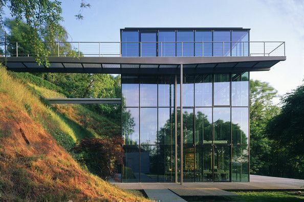modern and sleek eco friendly glass house in Germany
