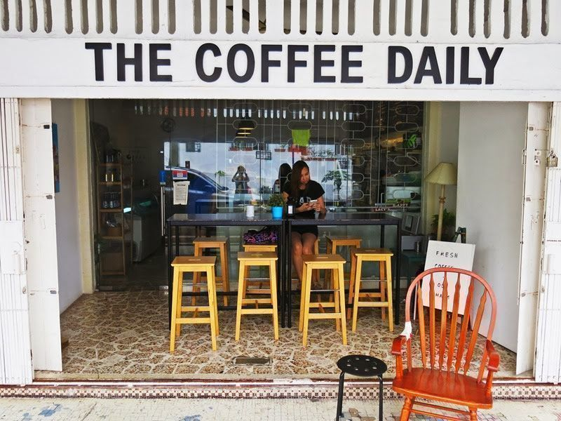the coffee daily cafe has a vintage style