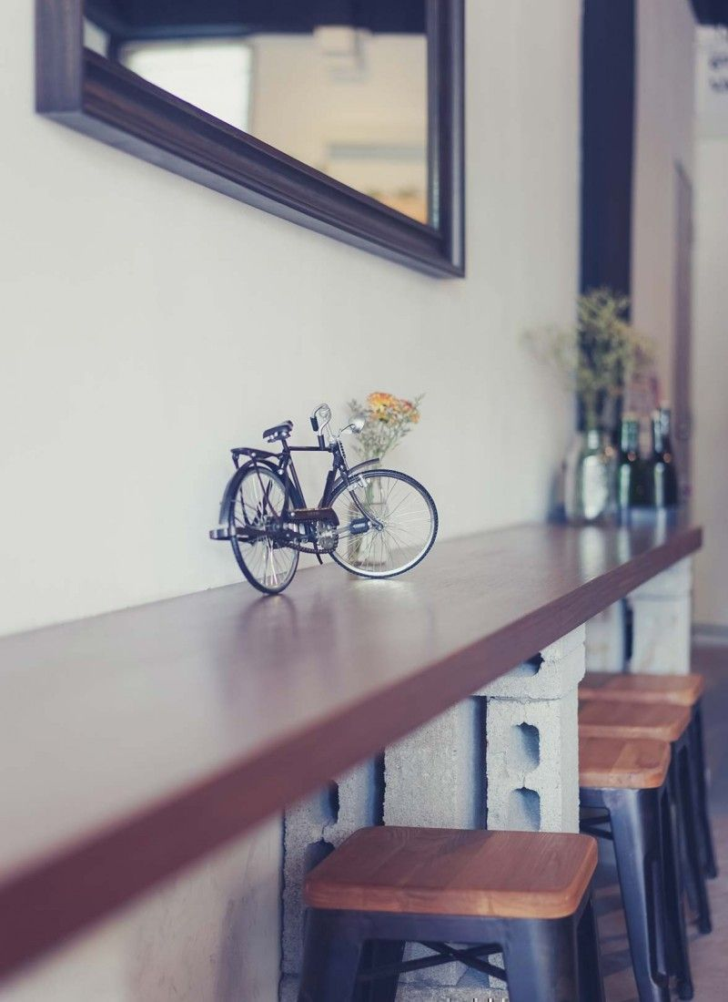 interior design bar counter seats at percolate cafe at bedok