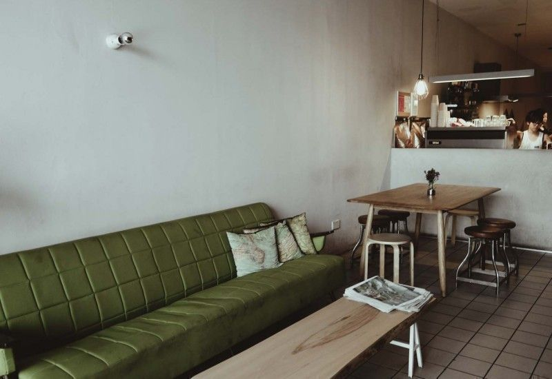 industrial minimalist interior design at the plain cafe