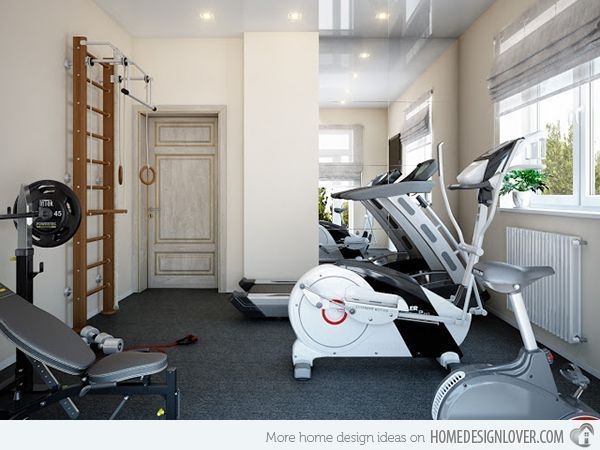 Design ideas that will make you want to start building a for Home gyms small spaces