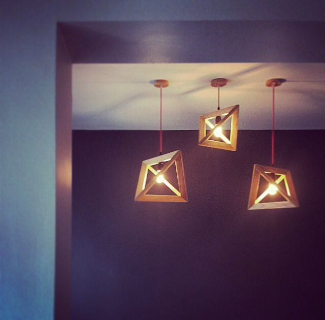 geometric shape pendant lights - cosy ambience at home